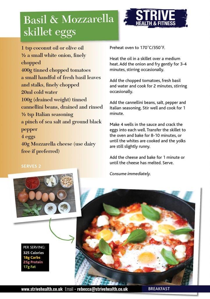 basil and mozzarella