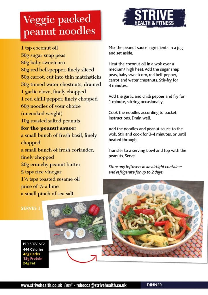 nutritious dinner recipe