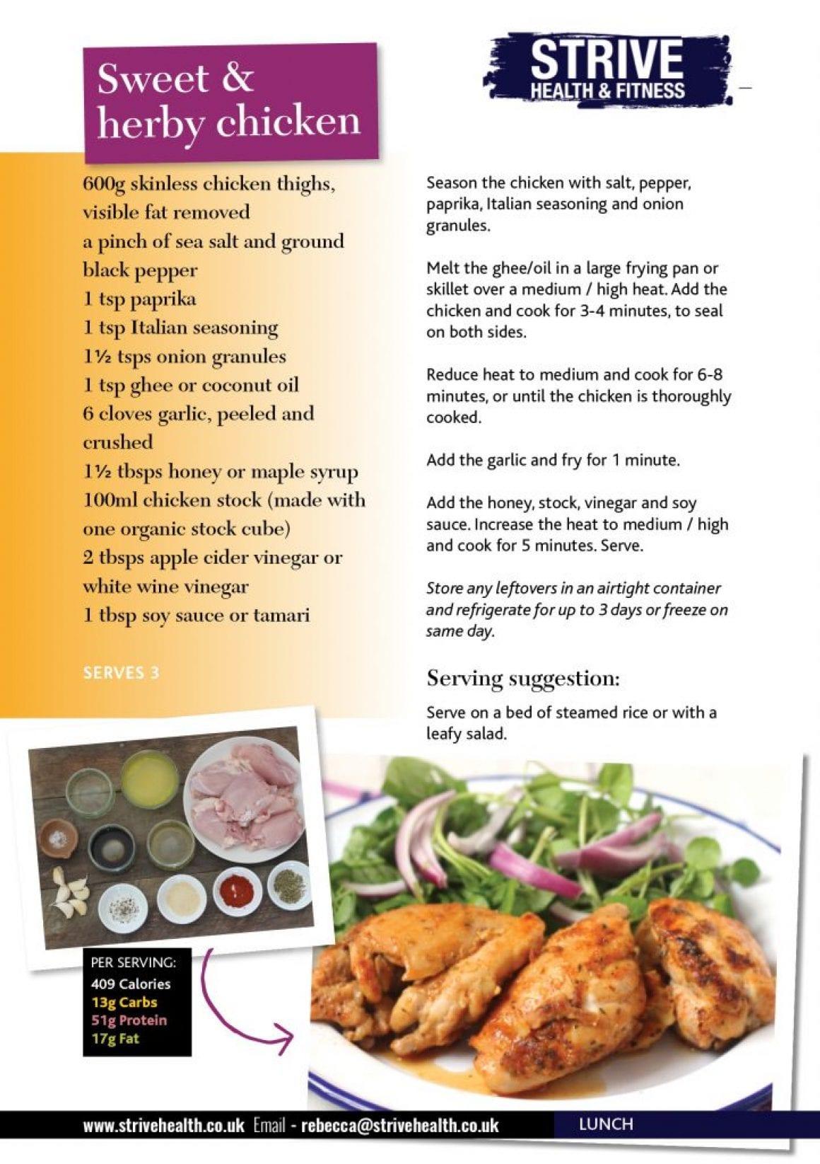herby chicken
